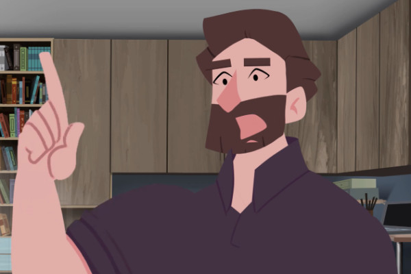 """""""Mac"""" in the new Gospel Animation for the Deaf"""
